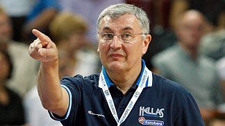 Greece Head Coach Jonas Kazlauskas